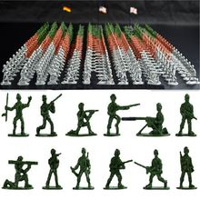 100pcs/set Military Plastic Toy Soldiers Army Men Figures 12 Poses Gift Toy Model Action Figure Toys For Children Boys