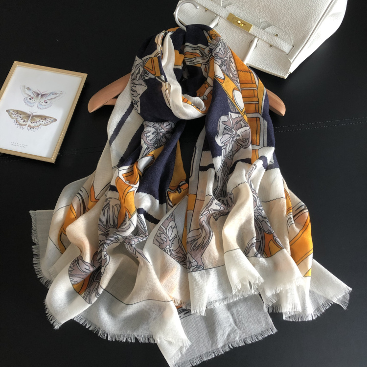 300s Pure Cashmere Scarf Women Yellow Belt Luxury Brand Design Scarves Female Winter Warm Spring 2019 New Shawls Wraps 200*100cm