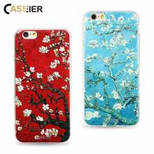 Buy CASEIER Phone Case iPhone 6 6s 7 8 Plus Cover Soft TPU Ultra-thin Almond Blossom iPhone 5 5s SE Shell Capa Capinha Cases for $2.14 in AliExpress store