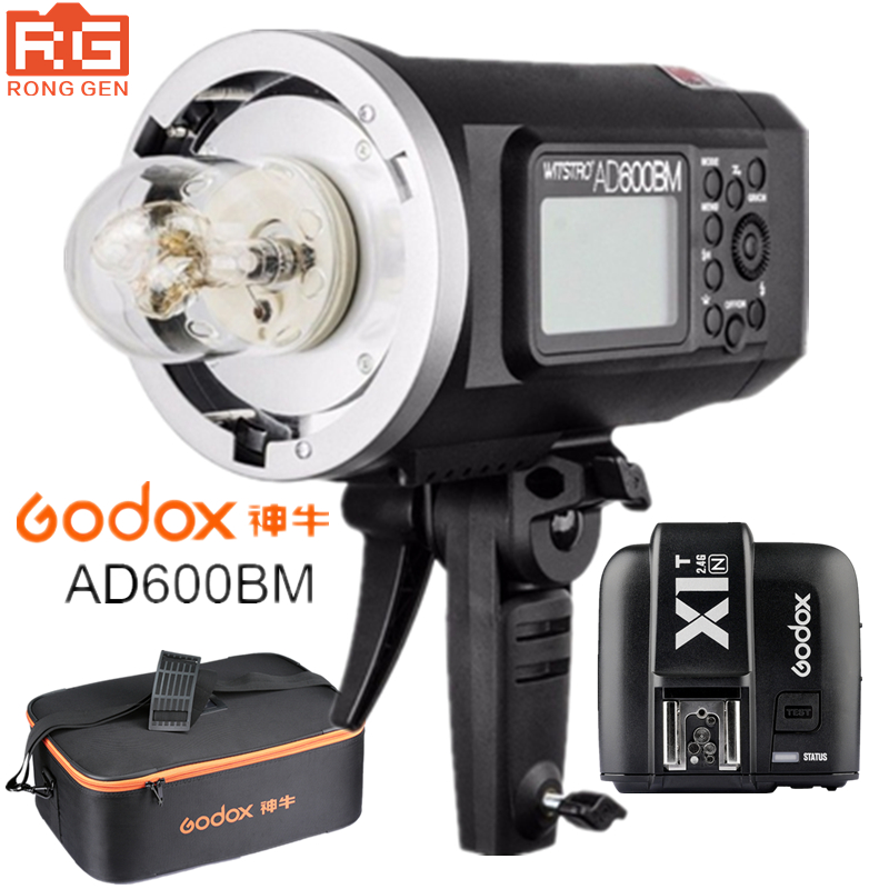 Godox AD600BM 600WS GN87 HSS 1/8000s Outdoor Flash Photography lights Strobe 2.4G Wireless X System X1T-N Trigger Nikon