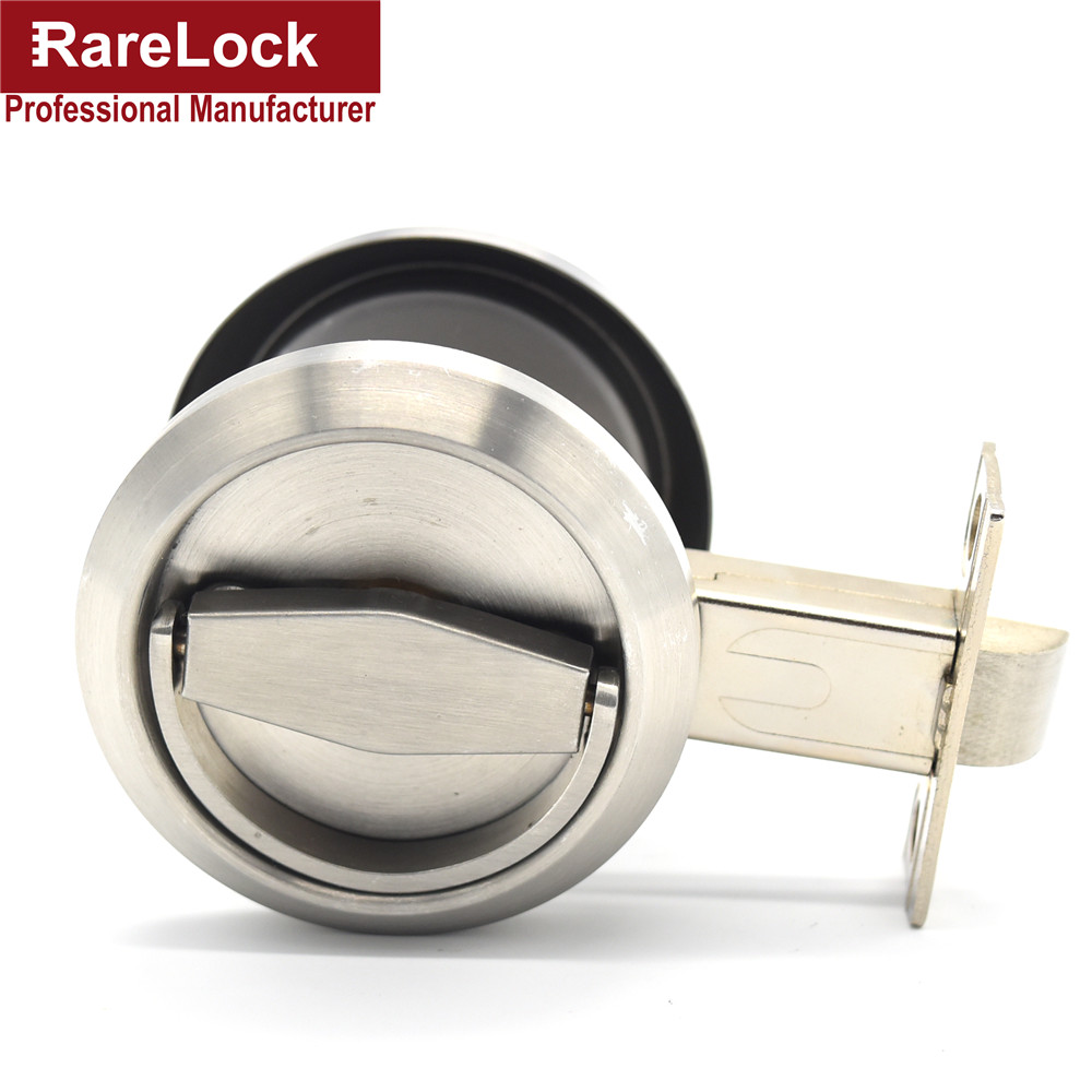 Rarelock Christmas Supplies Stainless Handle Door Lock Knob for Bathroom Office Women Bag Dress Shop Door Hardware DIY c<br>