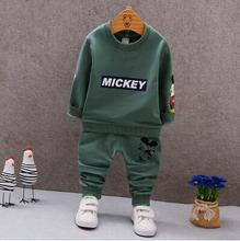 Kids Clothing Sets Long Sleeve T-Shirt + Pants, Autumn Spring Children's Sports Suit Boys Clothes Girls Fashion Cartoon suit(China)