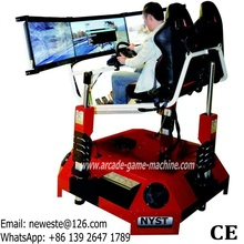 NYST Exciting Dynamic Amusement Equipment Adults Arcade Games 3 Screens 3D Video VR Simulator Drive Car Racing Game Machine(China)