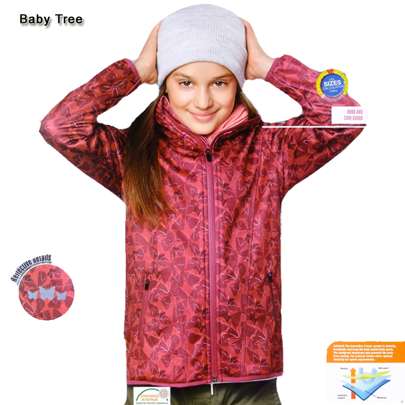 Brand Jackets For Girls Boys Fleece Hooded Coats Waterproof Kids Sport Outerwear 6-12Y Childrens Outdoor Climbing Clothing<br>