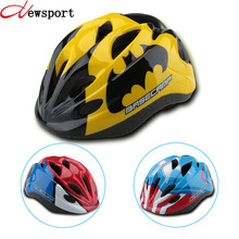 New Kid Bicycle Helmets Hero Style Safety Bike Helmet Night Light Ultralight Breathable Children Cycling Helmet 50-56 cm(China)