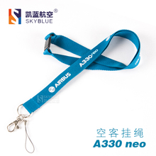 A330neo Airbus Lanyard Blue Ribbon Rope Sling for ID Case Holder for Pilot Aviation Lover Airman Flight Crew