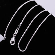 "Accessories 1MM 16""-24"" Accessories silver necklace silver snake chain necklaces Ornaments fashion jewelry for women c008"