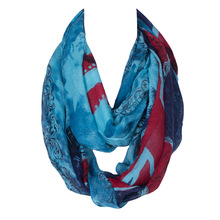 2017 Fashion Polyester England Flag Ring Scarf with Skull Scarfs For Women Lightweight Infinity Design Women Loop Scarf 155*90cm