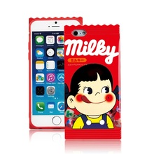 Cute Fujiya Peko Milky boy & girl Soft Rubber Case Skin Cover for iPhone 5/5s/SE/6/6s/6s plus 4.7/5.5 Silicon  PhoneCase