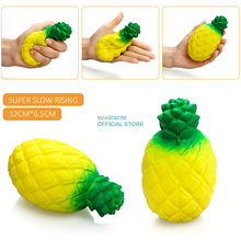 13CM Squishy pineapple 2017 New Jumbo Kawaii 13CM  Slow Rising Squeeze Stretch Scented Bread Cake Kid Toy Gift Doll