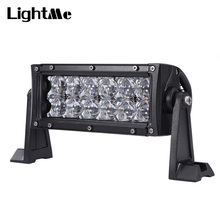 60W/120W 5D LED Automotive Exterior Work Light Vehicle Lighting Bar Black Extruded Aluminum Profile and High Transmission PC Len