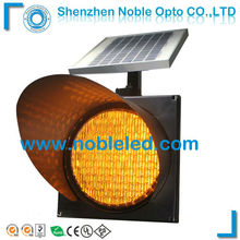 300mm 12v LED Amber solar traffic flashing light