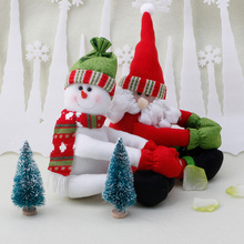 Santa SnowmanWine Bottle Cover Table Party Decor Xmas Ornaments Christmas -P101