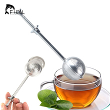FHEAL Mesh Loose Tea Ball Infuser Stainless Steel Spice Herbal Long Handle Tea Leaf Strainer Filter Tea Accessories Drinkware(China)