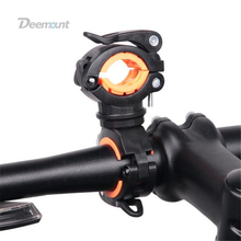 Bicycle Light Bracket Bike Lamp Holder LED Torch Headlight Pump Stand Quick Release Mount 360 Degree Rotatable HLD-211(China)