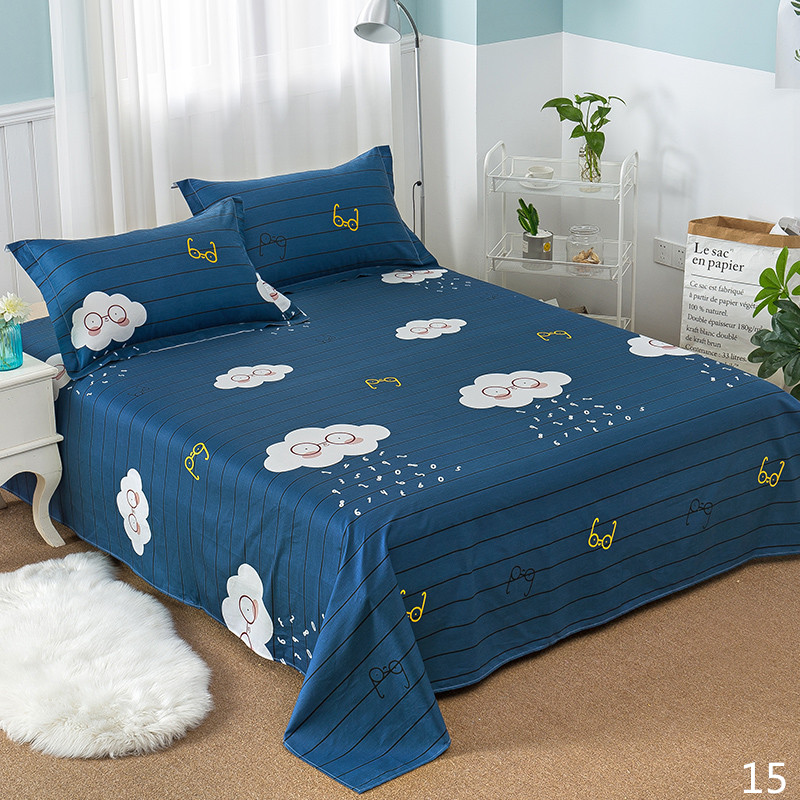 100% Cotton Modern Fashion Bed Flowers Flowers And Trees Printing Pattern 3pcs Bed Sheets Pillowcase Large Size 230x250cm 18