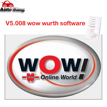 2017 New Wurth Wow! v5.00.8 R2 Multi-language+Keygen as gift+ install guide video for wow snooper vd tcs cdp pro cars and trucks(China)