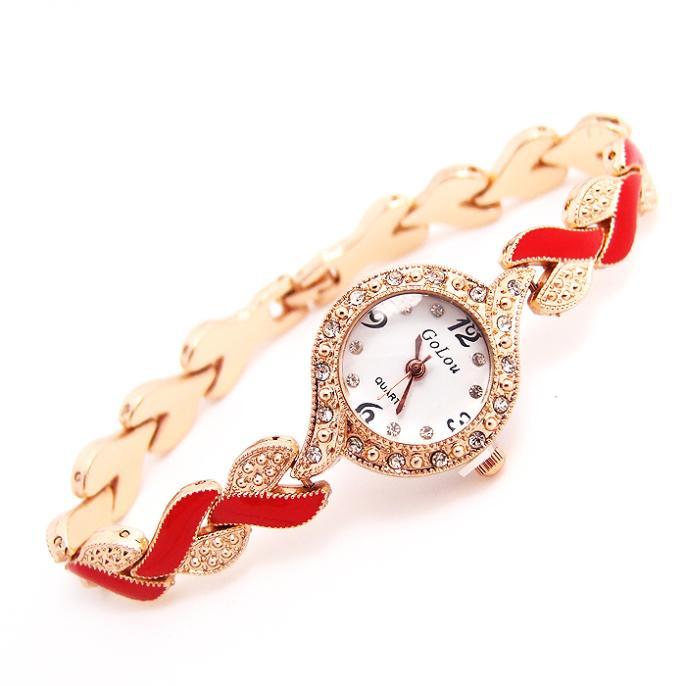 Luxury Rose Gold Tone Watch Women Ladies Fashion Crystal Dress Quartz Wristwatches Hour Clock GO123 HAI<br><br>Aliexpress