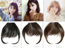 Fashion Natural Bang False Hair Bangs Black Light Brown Brown Clip In on Bangs Synthetic Hair Fringe 3 Colors (NWG0HE61090)