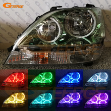 For Lexus RX300 RX 300 1999 2000 2001 2002 2003 headlight Excellent Multi-Color Ultra bright illumination RGB LED Angel Eyes kit(China)