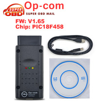 2017 Newest Opcom V1.65 op com For Opel obd 2 Code reader OP-COM V1.65 with PIC18F458 CAN BUS Interface diagostic tool Free Ship