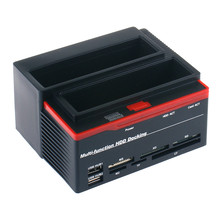 hot sale new Docking Station Trip Lo 3 Hard Disk USB 2.0 Multi Fun Zion E Card SATA IDE the best product(China)