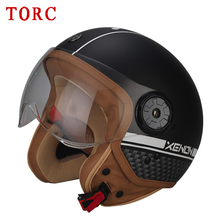 TORC V585 open face motorcycle helmet half face vintage scooter jet  ABS Shell fashion For VESPA Retro helmets M L XL