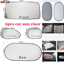 Top 6pcs/set Car sun visor Fit all car sunscreen insulation curtain sun block light Front/Rear shade anti UV windshield window