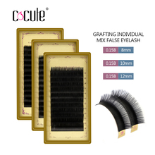 Cocute Professional B curl Black Glossy Thickness Mink Material Eyelashes Individual False Eyelash Extension(China)