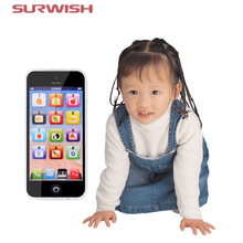 Surwish Touch Screen Multi-Functional Toy-phone 5S English Learning Playmobil With Dazzle Colored Light Kid Children's Toys(China)