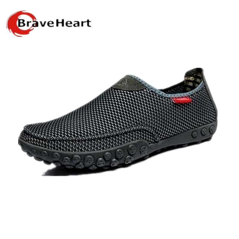 Breathable Mesh Summer Shoes Mens Casual Shoes Soft Hollow Lazy Shoes Flats Zapatos Hombre gift for father<br><br>Aliexpress