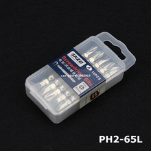 10Pcs/Lot Phillips Slotted Double End Screwdriver Bits PH2 SL6 SL7 65mm Long with Magnetism(China)