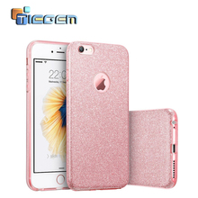 Tiegem Phone Cases for iPhone 6 Plus Bling Glitter Gradient Case TPU Silicone+PC Women Cases for iPhone 6 6S Phone Bags & Cases