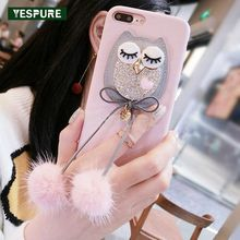 YESPURE Girls Fancy Covers For Iphone 7 8 Bling Bling Diamond Cartoon Design Phone Accessories