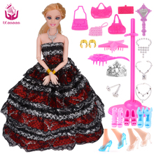 2016 New Fashion Doll Party Wedding Dress Dolls New Style Moveable Joint Body Plastic Classic Toys Best Gift for Girls Friends(China)