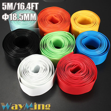5m Replace Damaged Outer For Li-ion 18650 18500 Battery Wrap Shrink 29.5mm to 18.5mm Heat Shrink Tube Insulated Sleeves DIY Kit
