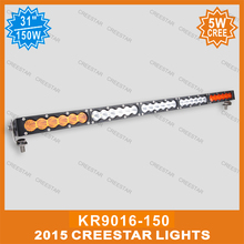 150W led offroad bar 30inch amber white led work light bar KR9016-150 used for 4x4 4wd SUV ATV Truck Car styling led bar light(China)