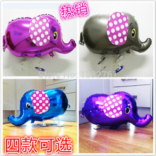 30pcs/lot 4 colors walking pet balloon walking elephant baloons walking pet ballon animals elephant walking balloons