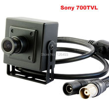 "Free shipping Indoor surveillance mini 3.6mm lens 1/3"" Sony Effio-e CCD 700tvl mini cctv video camera  for bank atm machine"