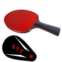 NEW ARRIVAL  XVT 40+ NANO CARBON  with HURRICANE RUBBER Hand-Assemble table tennis racket PINGPONG paddle  Send Whole Cover case
