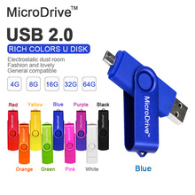 Colourful Use Android OTG USB Flash Drive Pen Drive 4gb 8gb 16gb 32gb 64gb USB 2.0 Pendrive Flash Drive Micro USB Stick