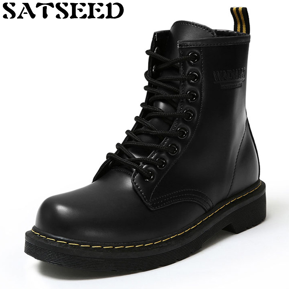 Winter Autumn Waterproof Shoes Lace Ankle Motorcycle Female Boots Martin Boots Europe Women Brand Shoes Short Plush Sewing New<br>