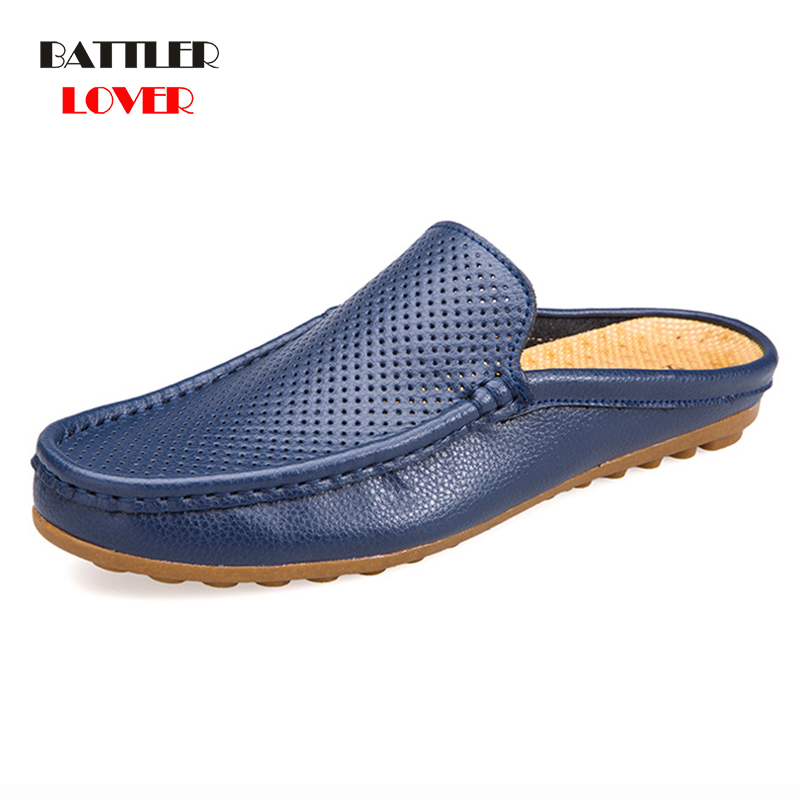 Men Comfortable Casual Sandals Soft Surface Genuine Leather Summer Trending Shoes New Mens Flip Flops Slipper Outdoor Large Size