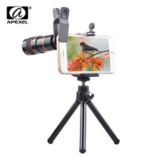 Universal Clip 8X Zoom Mobile Phone Telescope Lens Telephoto External Smartphone Camera Lens for Smartphone PC Laptop CL-19B