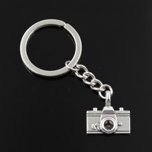 new fashion men 30mm keychain DIY metal holder chain vintage camera 22*21mm antique silver pendant
