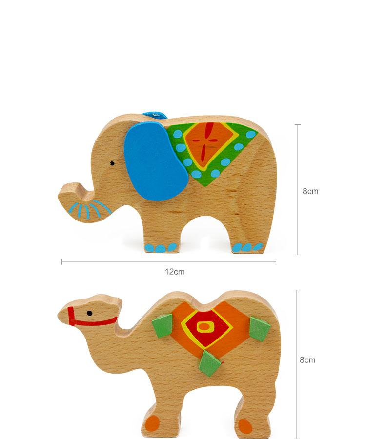 Montessori Educational Elephant Balancing Blocks Wooden Toy 4