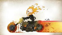 drawing host driver skull fire motorcycle Home Decoration Canvas Poster Print(China)