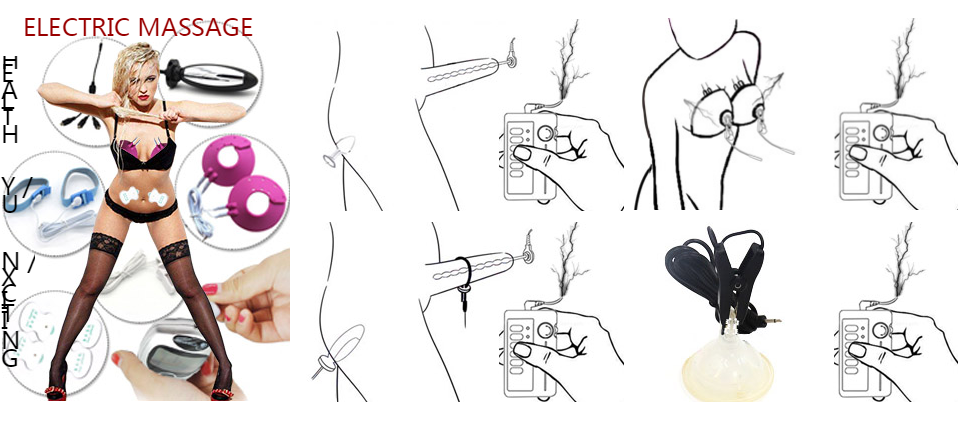 Huge Butt Anal Plug Medical Themed Toys Kit Electric Shock Penis Rings Electro Shock Urethral Sounds Vibrator Sex Toys For Men 2