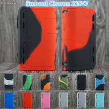 New Arrival!! 2017 Smoant Charon 218w TC Mod Silicone Case cover with 12 different colors from RHS factory(China)