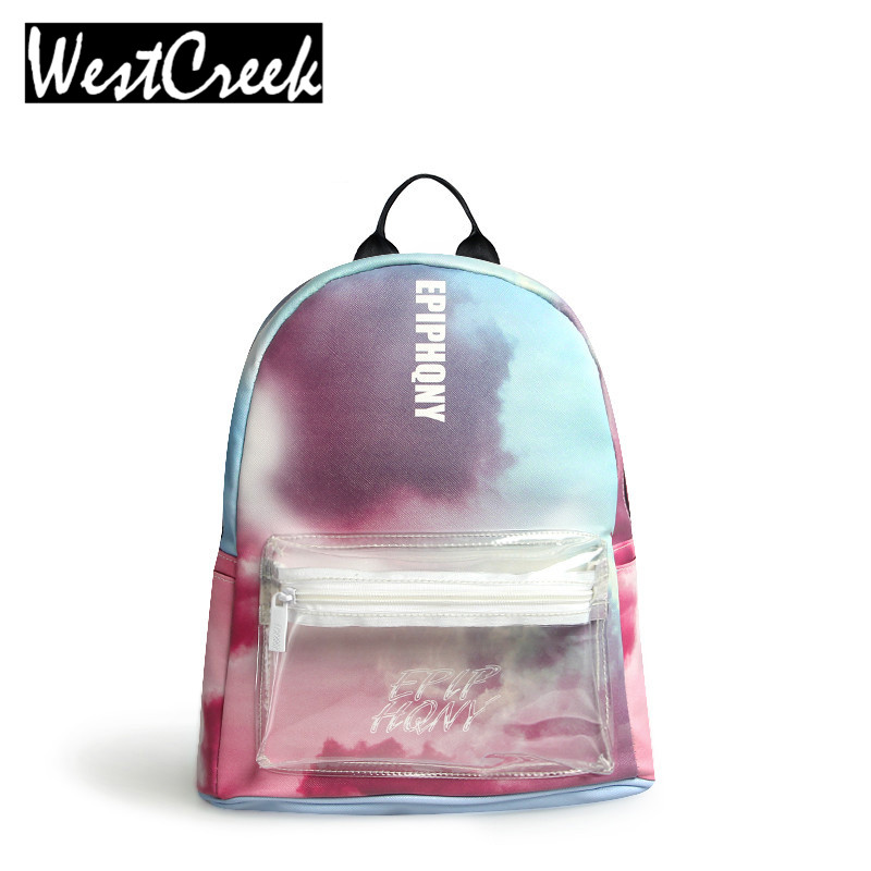 Westcreek Brand Fashion Tie-dyed Style Backpack for Girl Students PU Small Women Backpacking Bags for 5 Colors 51068<br><br>Aliexpress